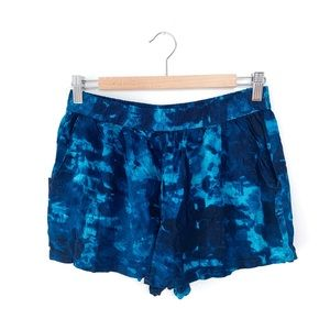 Mossimo Supply Co Blue Tie Dye Shorts
